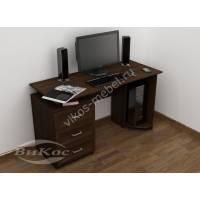 широкий стол для компьютера цвета венге