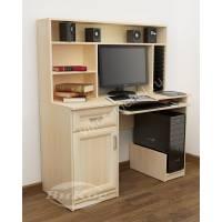 компьютерный стол с полками с выдвижными ящиками
