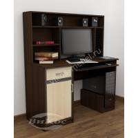 большой компьютерный стол с выдвижными ящиками